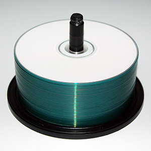 discs on a spindle image - cd & dvd duplication