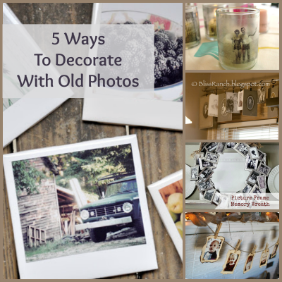 5 Ways to Decorate With Old Photos